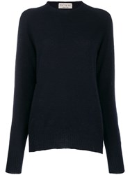 Ma'ry'ya Raglan Knit Jumper Blue