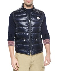 Moncler Gui Quilted Puffer Vest Navy