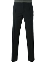 Alexander Mcqueen Straight Leg Trousers Black