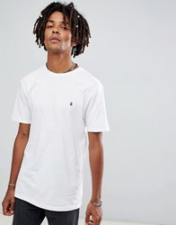 Volcom T Shirt With Small Logo In White