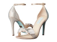 Blue By Betsey Johnson Gwen Champagne Satin High Heels Bone