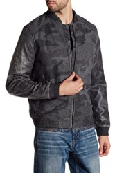 Robert Graham Evanson Genuine Sheep Leather Classic Fit Bomber Jacket Gray
