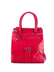 Twin Set Bucked Strap Tote Red