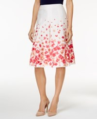 Charter Club Cotton Floral Print A Line Skirt Only At Macy's Cloud Combo