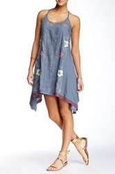 Hazel Embroidered Lace Dress Gray