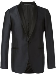 Pal Zileri Embroidered Tuxedo Blazer Blue