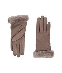 Ugg Classic Suede Smart Glove 14 Stormy Grey Two Tone Dress Gloves Beige