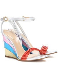 Chloe Metallic Leather Sandals Multicoloured