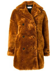 Closed Faux Fur Coat Brown