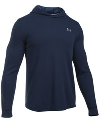 Under Armour Men's Waffle Thermal Hooded Shirt Midnight Navy
