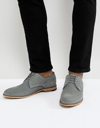 Pier One Suede Lace Up Shoes In Grey
