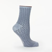 Becksondergaard Dina Small Dot Socks Dusty Blue