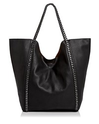 Street Level Chain Link Trim Large Tote Black Silver