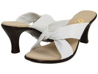Onex Modest White Leather Women's Dress Sandals