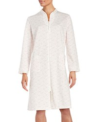 Miss Elaine Patterned Zip Front Robe