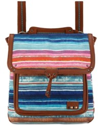 The Sak Pacifica Printed Convertible Medium Backpack A Macy's Exclusive Style Sunset Stripe