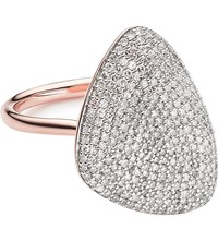 Monica Vinader Nura Teardrop 18Ct Rose Gold Vermeil And Diamond Ring
