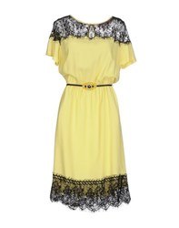 22 Maggio By Maria Grazia Severi Dresses Knee Length Dresses Women Yellow