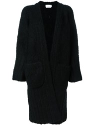 Chloe Chunky Long Cardigan Black
