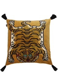 House Of Hackney Large Saber Cotton Velvet Accent Pillow Gold