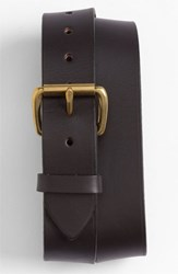 Men's Big And Tall Filson Leather Belt Brown