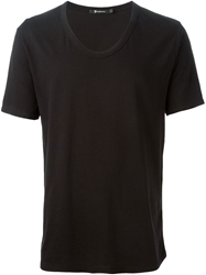 T By Alexander Wang Low Neck T Shirt Black