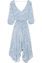 Vix Swimwear Chiara Printed Jersey Dress Light Blue