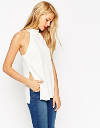 Asos Backless High Neck Top White