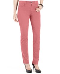 Styleandco. Style And Co. Petite Slim Leg Tummy Control Jeans Dusty Rouge
