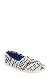 Toms Women's 'Classic' Stitched Slip On Black White Geometric