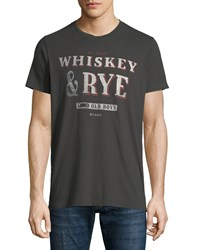 Sol Angeles Whiskey And Rye Graphic T Shirt Gray