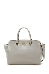 Segolene En Cuir Sylvie Genuine Leather Handbag Gray