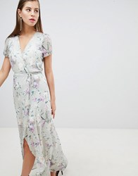 Hope And Ivy Floral Wrap Dress Multi