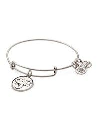 Alex And Ani Elephant Charm Bangle Silver