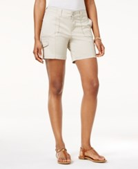 Style And Co Petite Zig Zag Cargo Shorts Only At Macy's Stonewall