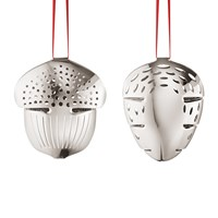 Georg Jensen Acorn And Pinecone Tree Decoration Set Of 2 Silver