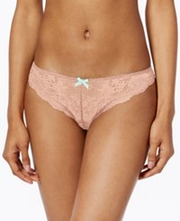 Heidi Klum Intimates Odette Sheer Lace Thong H37 1119 Bittersweet Coral Cloud
