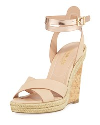 Charles By Charles David Brit Cork Wedge Nude