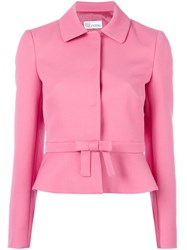 Red Valentino Bow Detail Fitted Jacket Pink Purple