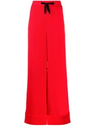 Roland Mouret Wide Leg Trousers Red