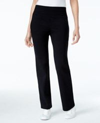 Style And Co Petite Bootcut Yoga Pants Only At Macy's Deep Black