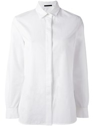 Les Copains Concealed Fastening Shirt White