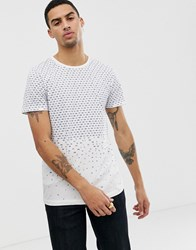 Tom Tailor All Over Print T Shirt In Beige