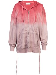 Faith Connexion Tie Dye Zip Front Hoodie Pink And Purple