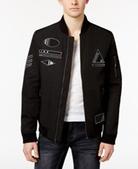 Inc International Concepts Men's Embroidered Bomber Jacket Only At Macy's Black