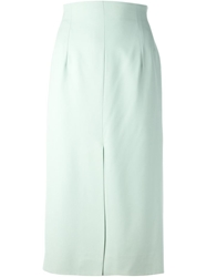 Celine Vintage Mid Length Skirt Green