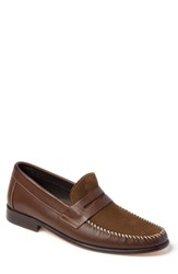 Sandro Moscoloni Hugo Moc Toe Penny Loafer Brown Leather