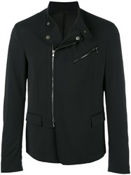 Diesel Black Gold Blazer Design Biker Jacket Blue