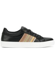 Paul Smith Side Stripes Sneakers Leather Rubber Black