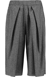 Brunello Cucinelli Wool Blend Culottes Dark Gray